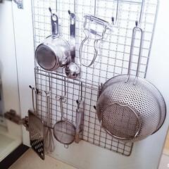 キッチン/収納/片付け/整理/シンク下収納/100均 キッチンに浅い引き出しがないので、シンク…