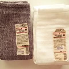 無印良品/ガーゼタオル/洗面所/お気に入り 先日買った無印良品のガーゼタオルをおろし…