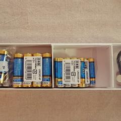 電池/防災グッズ/備蓄/片付け/整理/収納 3月を前に電池の使用期限をチェックしまし…