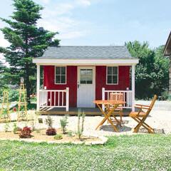 小屋/ミニハウス/アトリエ/キット/かわいい家/素敵な暮らし/... カントリー調の素敵なアトリエ 小さなお店…