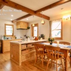可愛い家/かわいい家/素敵な暮らし/木の家/輸入住宅/カントリーハウス/... ナチュラルデザインハウス、ウッディーハウ…