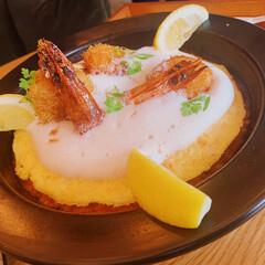 おでかけ/オムライス/軽井沢/ランチ/おしゃれ 軽井沢で食べたスペイン風オムライス! 魚…