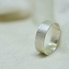 シンプル/リング/指輪/シルバー 5mm幅のシルバー950で作成しましたシ…