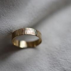 真鍮/シンプル/指輪/リング 1つ1つ真鍮の板から5mm幅で切り出し、…