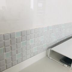 モザイクタイル プチコレガラスMIX ホワイト | 藤垣窯業(その他建築用タイル)を使ったクチコミ「プチコレガラスMIX モニタープレゼント…」