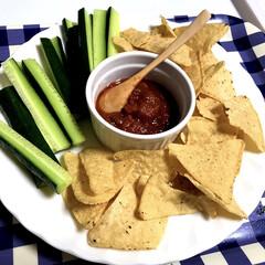 業務スーパー/至福のひととき/おやつタイム/みんなにおすすめ メキシカンフード! タコチップスとサルサ…