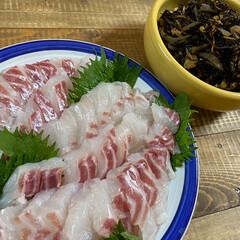 鯛の刺身/今日のごはん お料理の苦手な私ですが😞  今日の夕食‼…