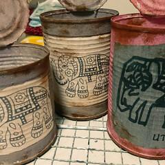 リメイク缶/リメイク鉢/多肉植物がある暮らし/多肉植物 今日は リメイク缶!昨日のリメイク鉢と …