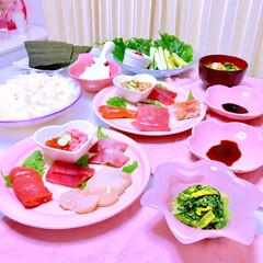 「。 ♡手巻き寿司パーティー(๑>◡<๑)…」(1枚目)