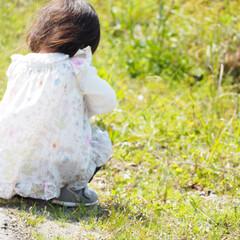 ハンドメイド子供服/雑貨/ハンドメイド/DIY/おでかけ/風景/... お散歩〜♡ハンドメイド子供服♡(1枚目)
