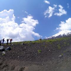 富士山/登山/夏山/はじめてフォト投稿 富士登山。