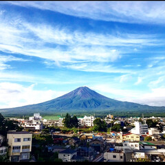 富士山/夏/青空/風景/LIMIAお出かけ部/おでかけワンショット 夏の富士山