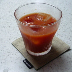 「#夏のお気に入り」/夏のお気に入り 我が家で収穫したトマトで作ったトマトジュ…
