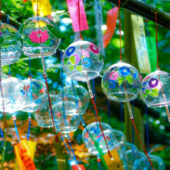 風鈴/夏/みんなにおすすめ 如意輪寺で撮った風鈴たち 風鈴とにかくた…