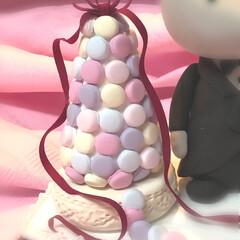 粘土細工/マカロンタワー/ウエディングケーキ/クレイフラワー/クレイクラフト →   まつエク繋がり  粘土のネズミさ…(1枚目)