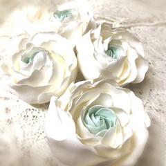 Birthday Flower/粘土細工/クレイクラフト/クレイフラワー/雑貨/ハンドメイド 💐     Ranunculus    …