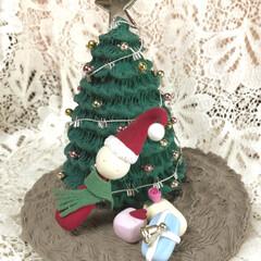 粘土細工/クレイクラフト/クリスマス雑貨/クリスマスインテリア/クリスマスツリー/ハンドメイド おはようございます ☀️✨  今日から …