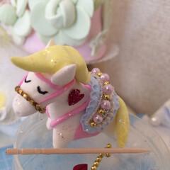 粘土細工/クレイクラフト/ハンドメイド 今日は  みんなが幸せになれそうな 馬 …(1枚目)