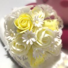 至福時間/クレイフラワー/粘土細工/クレイクラフト/ハンドメイド 7センチ の 小さなブーケ 💐✨
