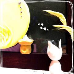 粘土細工/クレイクラフト/ハンドメイド 中秋の名月     十五夜   *・゜゚…(1枚目)