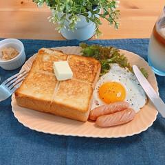 こんがりグルメ #トースト #厚切りトースト #明日の食…