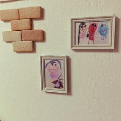 子どもの絵をアートに/子どもの作品 前はなんだかわけわからん絵だったけど長女…
