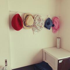 帽子収納/突っ張り棒