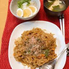 節約/簡単/スタミナご飯 本日の晩ご飯 神戸のソウルフード🥄ソバ飯…