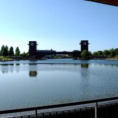 公園で/公園/富岩運河環水公園/富山県/富山市/フォト投稿/... 富岩運河環水公園。ここのスタバは平日でも…