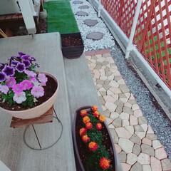玄関/玄関アプローチ/DIY GW中に頑張って、玄関アプローチをDIY…