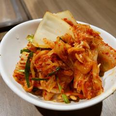 夏だからこそ!/パワーつく/はらぺこグルメ 韓国料理店で食べたキムチです。