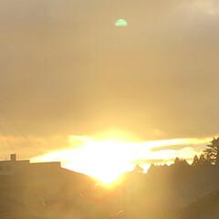今日の空 今日の夕日 台風の被害に遭われた人 寒く…