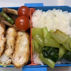 お弁当/シャリシャリ食感/ミニトマト/エリンギ/しいたけ/アスパラ/... 今日のお弁当   昨日の残り物   長芋…(1枚目)