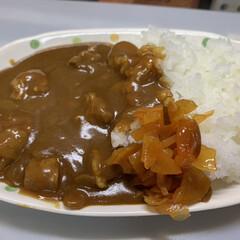 天ぷら/ズッキーニ/カレー/玉ねぎ/牛すじ/おうちごはん 本日は 牛すじカレーとズッキーニの天ぷら…