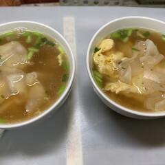 夕飯/ワンタンスープ/かき玉/白ごま/かつお節/ほうれん草/... 昨日の夕飯  八宝菜で 具は 11種。 …(3枚目)