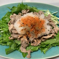 大根/ぶり/味ぽん/七味/水菜/大根おろし/... 本日の夕飯   鴨。  鴨の脂が出るので…