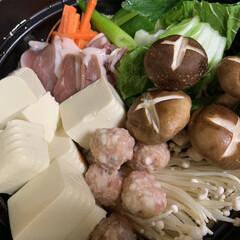 夕飯/そば/鶏ガラスープの素/しょうゆ/三温糖/油揚げ/... 本日の夕飯   鴨鍋❗️💕   鴨肉、鴨…
