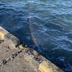波の虹/波崎港 波崎港   波が上がると 虹が見えました…