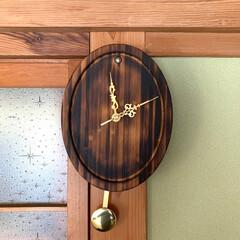 """手作り時計/DIY/ハンドメイド メルカリで""""ラパンさん""""から""""振り子時計…"""