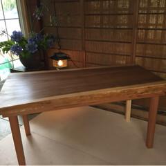 全国発送します♪/インスタグラム/ダイニングテーブル/1枚板テーブル/無垢テーブル ☆杉無垢テーブルつくります♪ サイズオー…(2枚目)