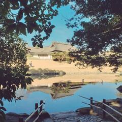 岡山/庭園/令和の一枚/フォロー大歓迎 庭園へ 天気がいいと良く写る