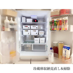 賃貸キッチン/団地キッチン/団地暮らし/冷凍庫収納/冷蔵庫収納/ご飯/... 𓇬𓂃⑅ . 今日は冷蔵庫収納見直しと冷蔵…