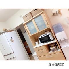 食器棚収納/カップボード収納/賃貸インテリア/団地インテリア/キッチン収納/団地キッチン/... 𖤣𖤥𖠿𖤣𖤥  食器棚整理しました𓂃 𓈒𓏸…