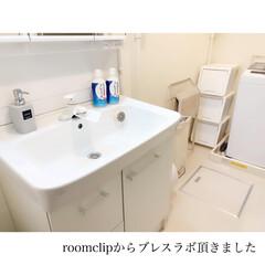 部屋干しスペース/賃貸洗面所/ブレスラボ/モニター/Roomclip/キャンドゥ/... 𓂃 𓈒𓏸𑁍  #roomclip から …