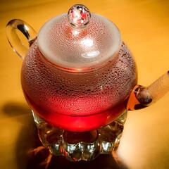 フレーバーティー/紅茶/スイス 最近ガラスのティーポットでお茶を飲むのに…