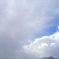 冬の1枚。/雪雲/青空/雪/冬 冬の1枚。 雪を降らせていた雲が流れてい…