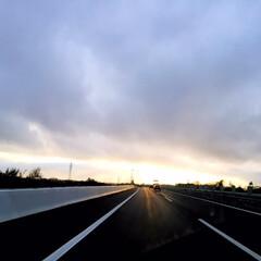 風景/天気/空模様/台風25号/雨上がり/高速道路/... 高速道路にて。 台風25号が過ぎていきま…