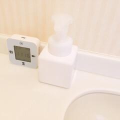 無印良品/詰め替えボトル泡タイプ/ハンドソープ/安定感 トイレに置いている 無印良品の詰め替えボ…
