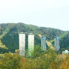 北海道/トマム/雲海/ツインタワー ツインタワーが見事なトマム。 海外の観光…