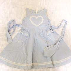 私の手作り/ワンピース/娘の服/リボン/♡/ハート 私の手作り。 娘がまだ幼かった時に作った…
